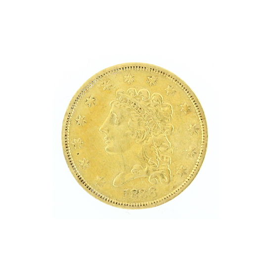 Rare 1836 $2.50 Classic Head Gold Coin Great Investment (DF)