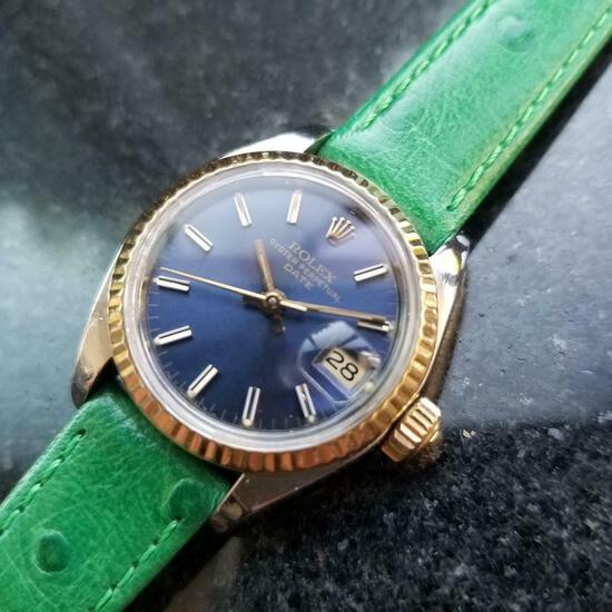 *ROLEX Oyster Date 26mm Automatic w/Box & Paper c.1980s Ladies Watch -P-