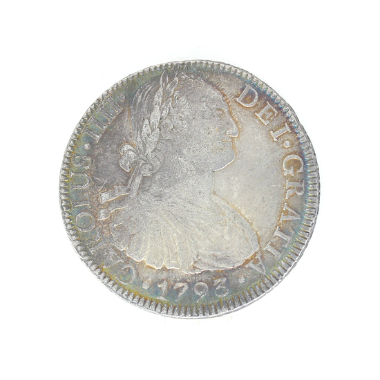 Extremely Rare 1793 Eight Reale American First Silver Dollar Coin Great Investment
