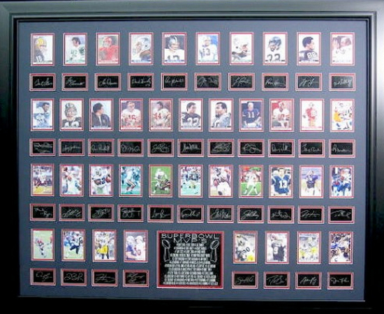 *Rare Super Bowl MVP's Museum Framed Collage - Plate Signed
