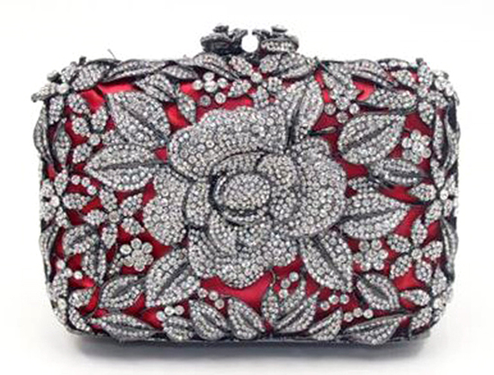 *Rare Exquisite Swarovski Crystal Element Handbag by Christal Couture - Inspired by Princess Diana -