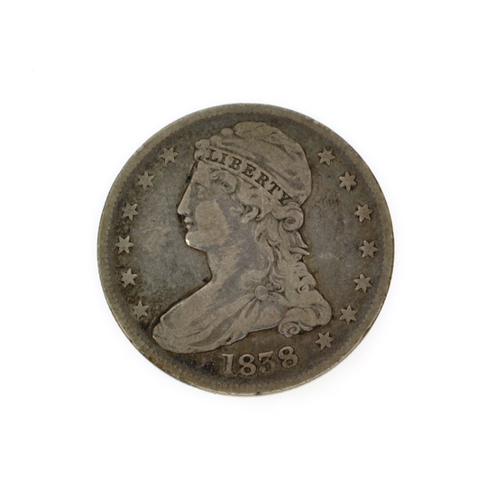 Rare 1838 Capped Bust Half Dollar Coin