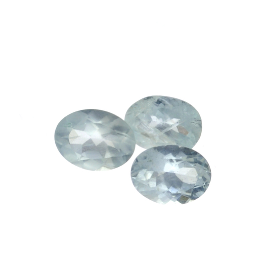 APP: 1.3k 3.20CT Oval Cut Natural Aquamarine Parcel