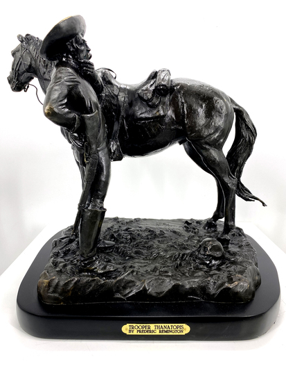 *Very Rare Large Trooper Thanatopis Bronze by Frederic Remington 20'''' x 22'''' - Great Investment