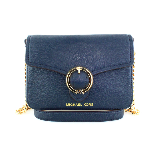 """Gorgeous Brand New Never Used MICHAEL KORS """"WANDA NAVY"""" SM XBODY Leather. Tag Price $298.00"""