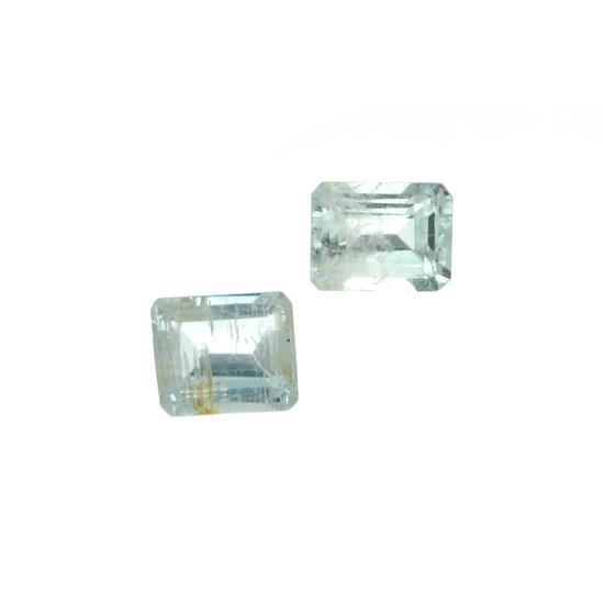 APP: 1.7k 4.21CT Rectangular Cut Aquamarine Parcel