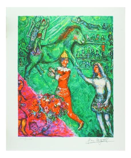MARC CHAGALL Le Cirque Verte Mini Print, LIX of CCLXXV