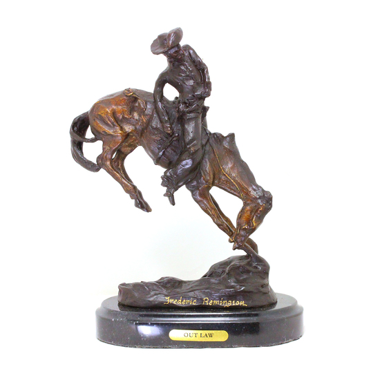 Rare -Outlaw-By Freredic Remington-Bronze Reissue- Grerat Investment