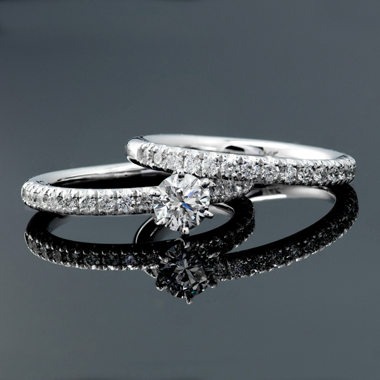 *Fine Jewelry 14KT.T White Gold, 1.25CT Round Brilliant Cut Diamond Engagement Ring (VGN A-56)