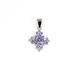 APP: 1.6k Fine Jewelry 1.25CT Mixed Cut Tanzanite And Platinum Over Sterling Silver Pendant