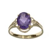 APP: 0.6k Fine Jewelry 14KT. Gold, 1.76CT Oval Cut Purple Amethyst Ring