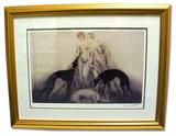 Icart (After) - Coursing III - Museum Framed Giclée 23x30