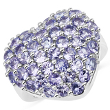 3.11CT Round Cut Tanzanite Sterling Silver Ring - Great Investment - Elegant Quality! -PNR-