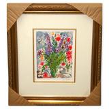 Chagall (After) 'Les Lupins Bleu' Museum Framed Giclee-Ltd Edn