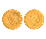 1945 DOS Y MEDIO Mexican Pesos Gold Coin Great Investment