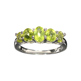 APP: 0.3k Fine Jewelry 1.49CT Oval Cut Green Peridot And Sterling Silver Ring