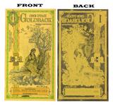 $1 Rare 24K 1/1000 Troy Ounce Gold Aurum Utah Goldback Note - Great Investment