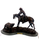 *Very Rare Large Double Trouble Bronze by Frederic Remington 26'''' x 20'''' - Great Investment -