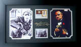 *Rare Marlon Brando with Authentic Swatch of Clothing Museum Framed Collage - Plate Signed