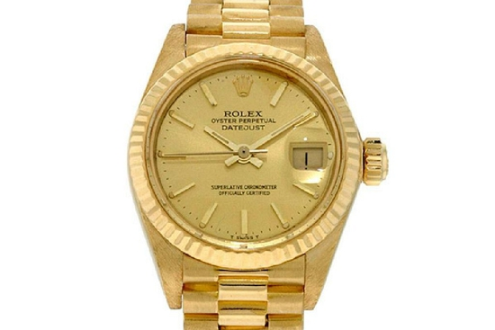*Ladies Rolex Oyster Perpetual Datejust President Gold Watch -P-