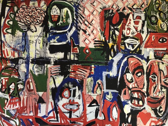*Outstanding Artist Signed Gino Perez 36x44 Giclees ''Higgs Boson'' Very Well Known Street Artist.