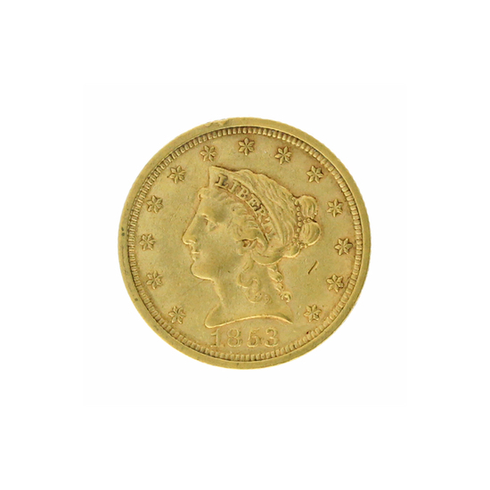 Rare 1853 $2.50 Liberty Head Gold Coin Great Investment