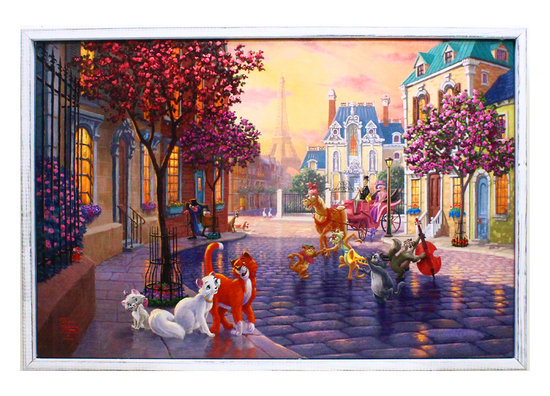 "Beautiful Thomas Kinkade "" Aristocats "" 01 on Canvas -PNR-"
