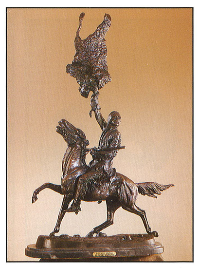 *Very Rare Large Buffalo Signal Bronze by Frederic Remington 29.5'''' x 22''''  -Great Investment-