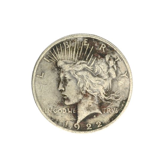 1922-D U.S. Peace Type Silver Dollar Coin