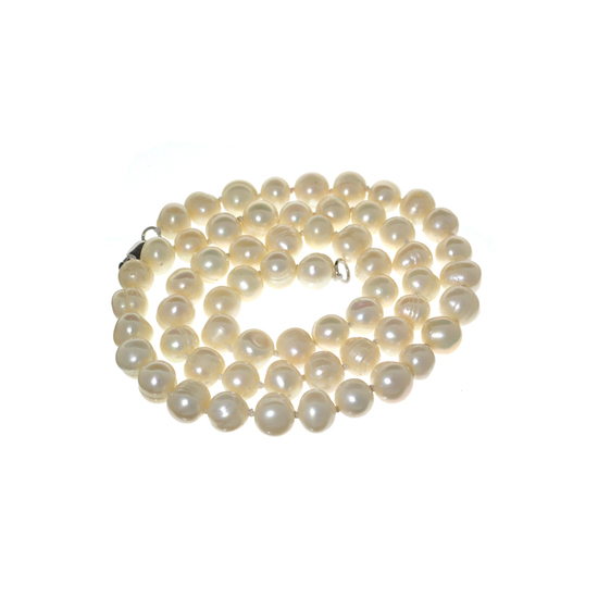 APP: 0.3k 16'' Pearl Strand with Sterling Silver Clasp Necklace