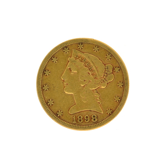 1898-S $5 Liberty Head Gold Coin