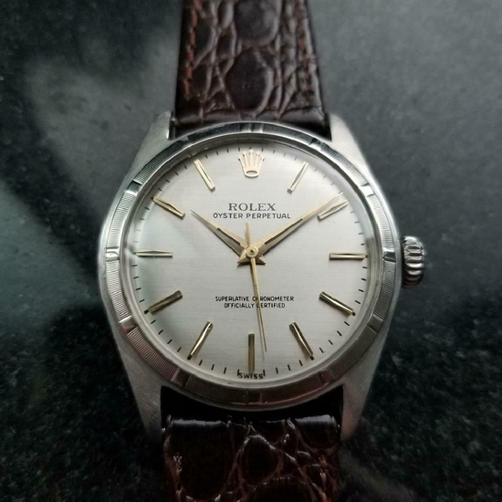 *ROLEX Oyster Perpetual 34mm Automatic c.1960s Men's Watch -P-