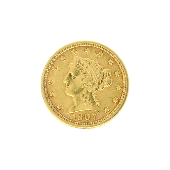 Rare 1907 $2.50 Liberty Head Gold Coin Great Investment