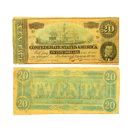 $20 Richmond Confederate States of America Note