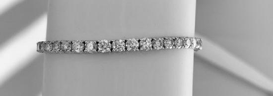 APP: 37.6k *Fine Jewelry 18KT. White Gold, 10.00CT Round Brilliant Cut Diamond Bracelet (VGN A-46)