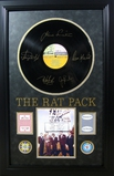 *Rare The Rat Pack Vinyl Album with Chips and Cards Museum Framed Collage - Plate Signed