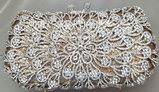 *Rare Exquisite Swarovski Crystal Element Handbag by Christal Couture -Perfect Accent - Gold - Great