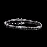 APP: 11.6k *Fine Jewelry 18KT. White Gold, 5.03CT Round Brilliant Cut Diamond Tennis Bracelet (VGN A