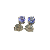APP: 0.6k Fine Jewelry 0.60CT Tanzanite And Sterling Silver Earrings