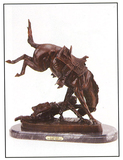 *Very Rare Large Wicked Pony Bronze by Frederic Remington 22.5'''' x 21''''  -Great Investment- (SKU