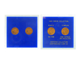 1989 U.S. (2pc) Error Collection Scarce No VDS & Common CDB initials on shoulder Pennies
