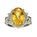 APP: 0.5k Fine Jewelry Designer Sebastian, 5.01CT Oval Cut Citrine And Sterling Silver Ring