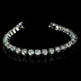 APP: 23.2k *Fine Jewelry 14KT. White Gold, Custom Made, 10.00CT Round Brilliant Cut Diamond Bracelet