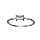 APP: 0.5k Fine Jewelry 14KT. Gold, 0.28CT Blue Aquamarine And Diamond Ring