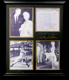 *Rare Marilyn Monroe and Joe DiMaggio Museum Framed Collage - Plate Signed
