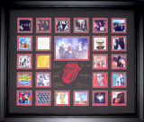 *Rare The Rolling Stones Mini Album Covers Museum Framed Collage - Plate Signed