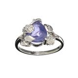 Fine Jewelry Designer Sebastian 3.50CT Pear Cut Cabochon Tanzanite And Sterling Silver Ring