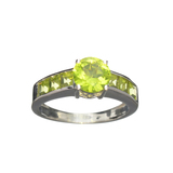 APP: 0.5k Fine Jewelry 2.60CT Green Peridot And Sterling Silver Ring