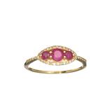 APP: 0.8k Fine Jewelry, Designer Sebastian 14KT. Gold, 0.53CT Round Cut Ruby And Diamond Ring