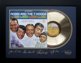 *Rare Robin and the 7 Hoods Album Cover and Gold Record Museum Framed Collage- Plate Signed